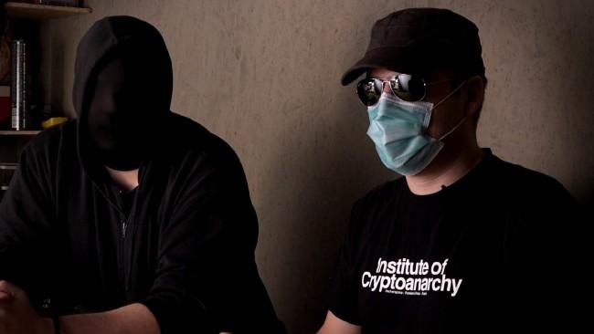 Frank Braun et Smuggler -  Institut pour la cryptoanarchie © Zygote Films-Upian